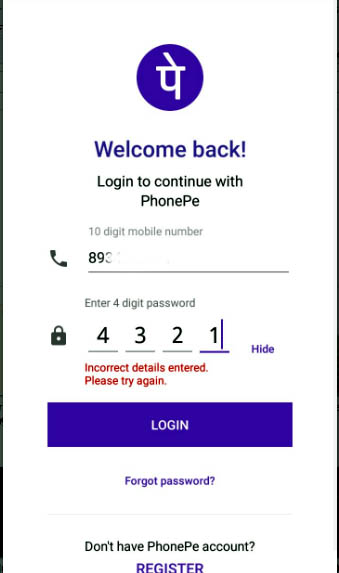 PhonePe Login issue Unable to Login or Reset-5