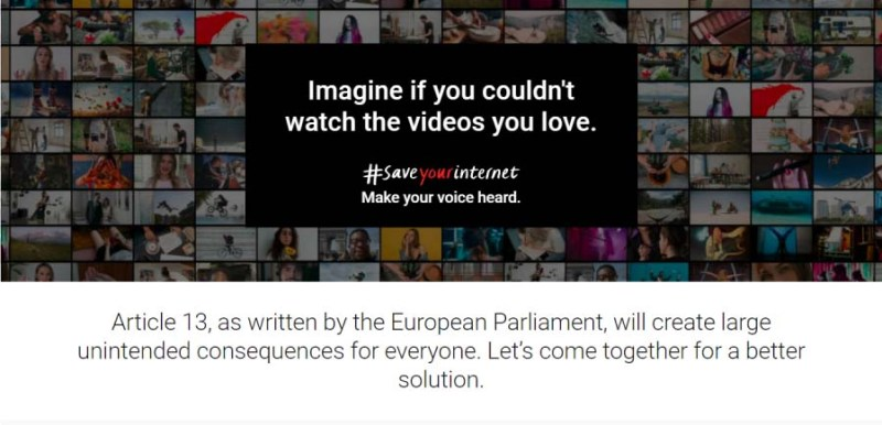 What is Youtube article 13