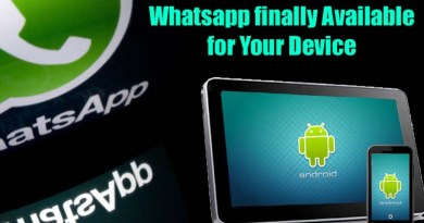 WhatsApp Instant Messaging Finally Available for Android Tablet