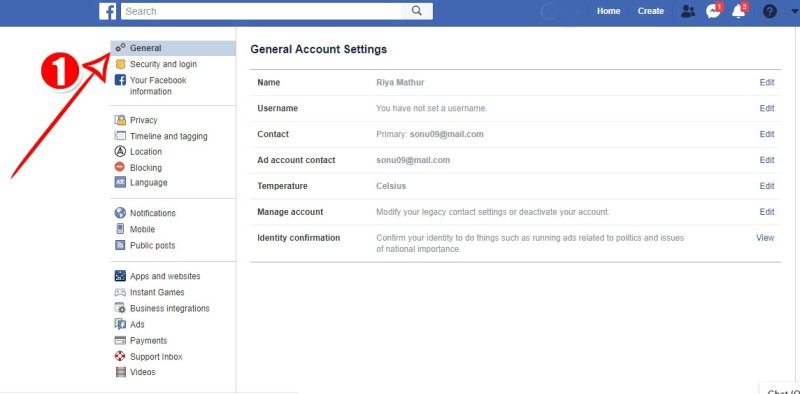 Facebook-general-setting