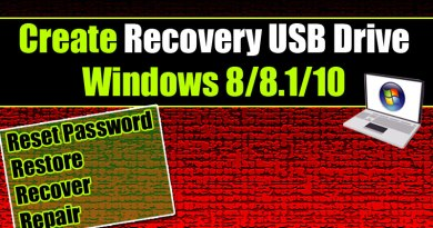 How to Create a Recovery Drive in Windows