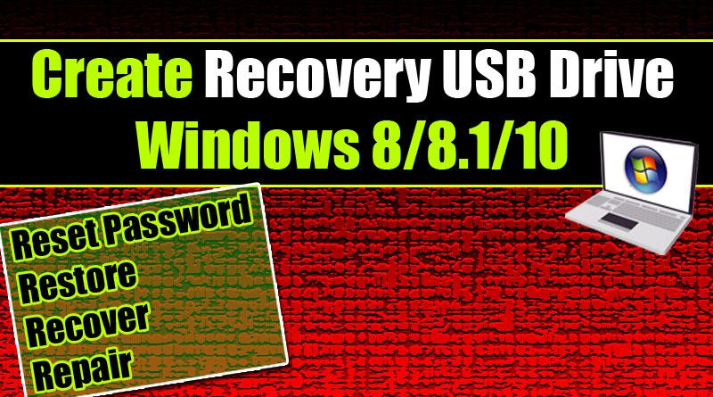 create windows 10 usb repair