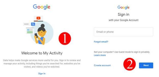 Recover Chrome history using Google my Activity