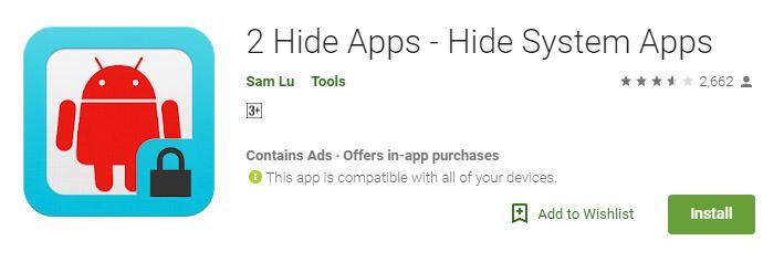 2 Hide Apps Hide Android App Icon