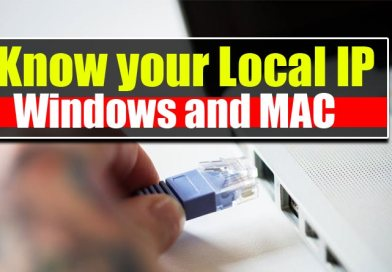 Find Local IP address on Windows and MAC