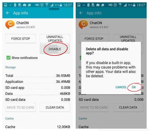 Hide default App in Android using setting