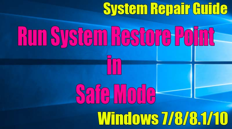 windows 7 safe mode repair