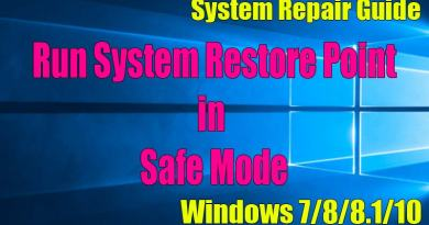How To Run System Restore Point in Safe Mode Windows