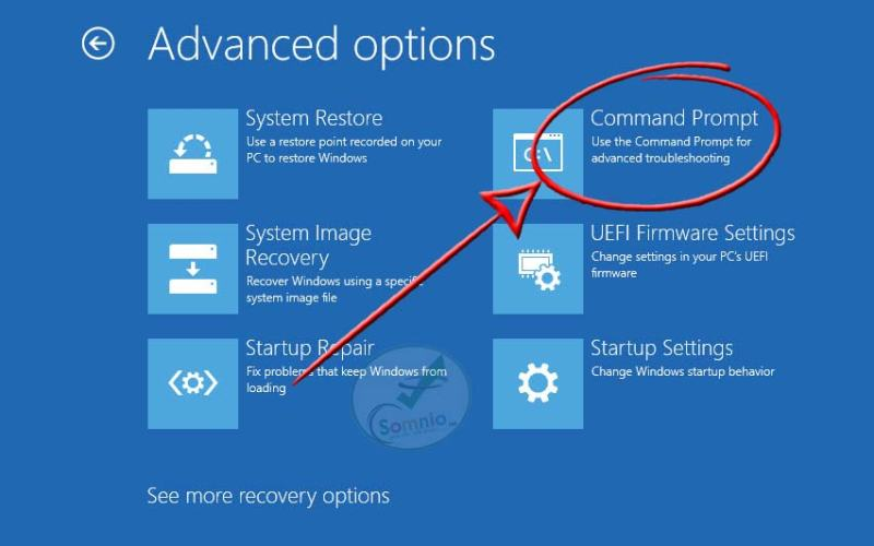 Run System Restore from command prompt