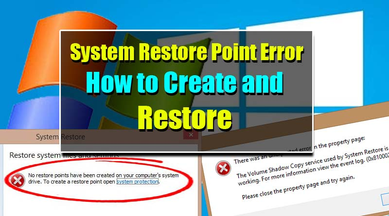 Windows Safe Mode System Restore Point Error-Win 7,8,8.1 and 10
