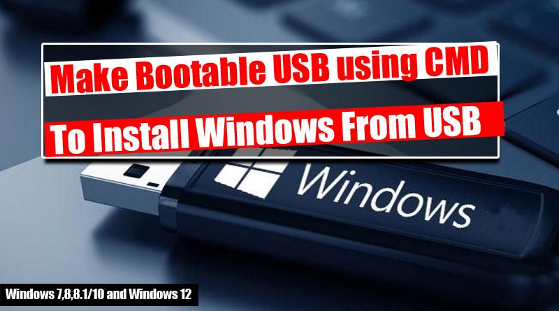 make disk bootable windows 7 diskpart