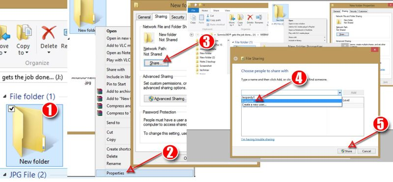 Make a new folder on your Windows PC and share it over internet