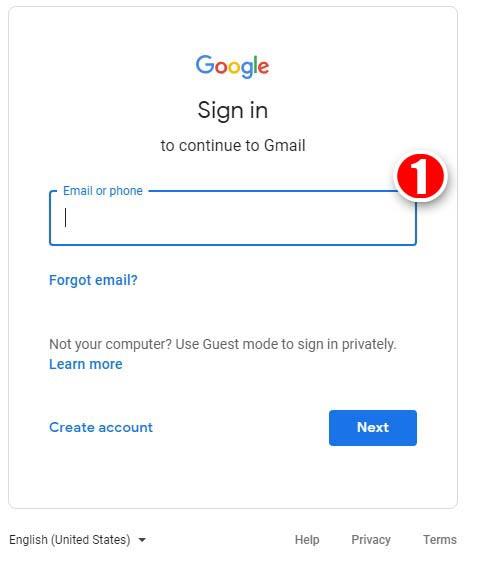 Go to Google accountand login