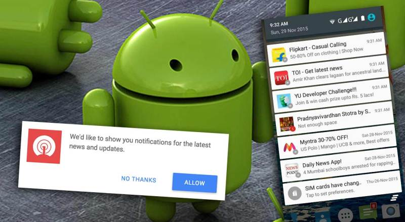 stop chrome notification on android