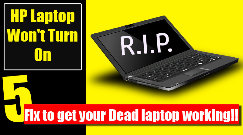 Hard reset your laptop to fix the dead laptop Archives