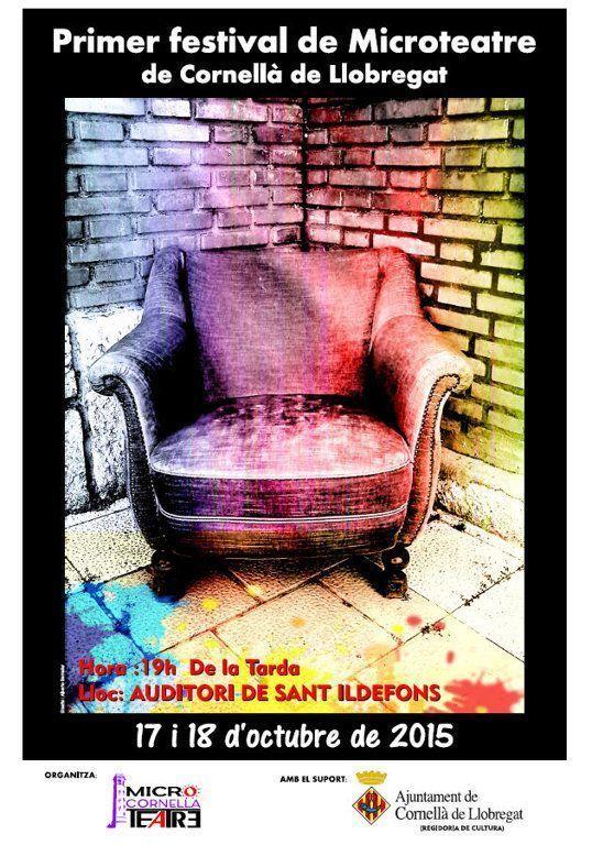 Cartell del Primer Festival de Microteatre de Cornellà de Llobregat