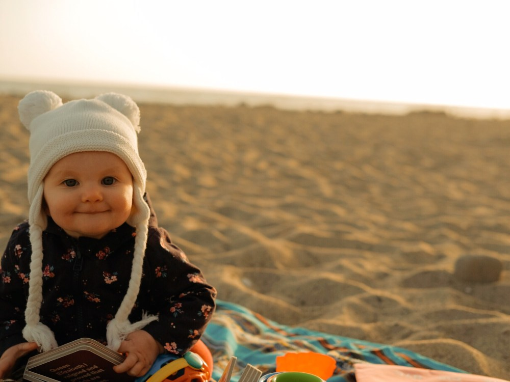 beach baby camping