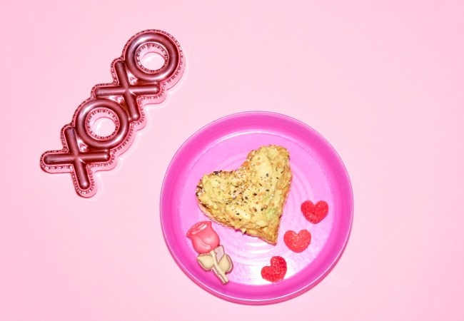 Easy, Healthy Toddler Meals for Valentine's Day — Avocado Toast with a Heartbeet!