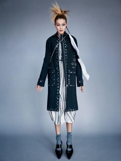Proenza Schouler coat, top & skirt. Bally bag. .