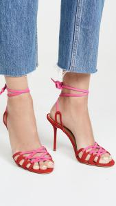 Aquazurra Pink and Red Sandal