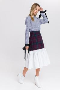 English-Factory-Tartan-Combo-Skirt