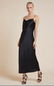 Oliviavonhalle chain strap silk slip dress