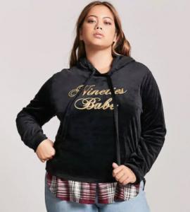 Velvet Pullover Hoodie; Forever21, $20