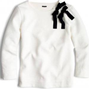 Double Bow Sweatshirt; J.Crew, $69.50 @J.Crew & Nordstrom