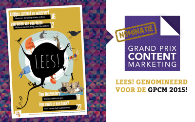 Lees! (Read!) magazine nominated for GPCM!