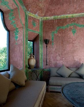 Yves Saint Laurent's Villa Mabrouka in Tangier, Morocco with Tadelakt Plaster