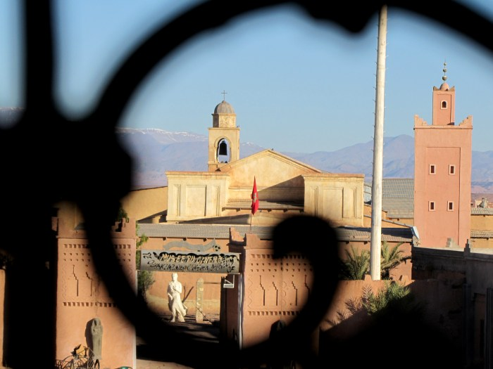 Ouarzazate: fortress of Taourirt. Looking towards the church and the mosque, now part of the film museum. Morocco film. Photo Credit: Ground hopping Merseburg, Flickr
