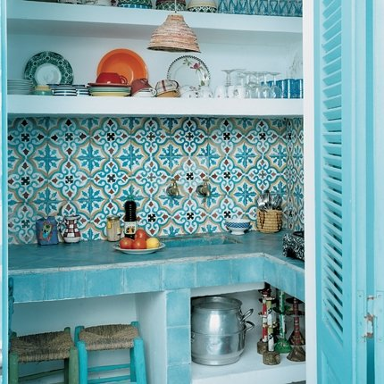 moroccan kitchen green