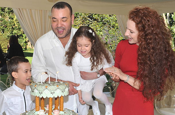 His Majesty King Mohammed VI with his family