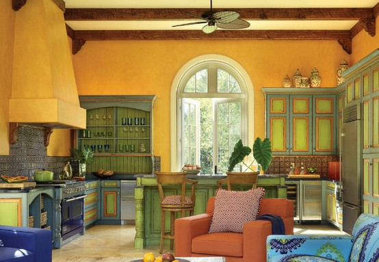 Delightful Colorful Moroccan Kitchen