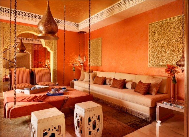 Moroccan Living Room designed by London-based interior designer Katharine Pooley