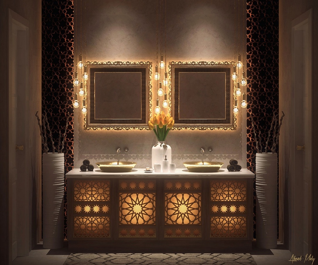 10 bathroom decorating ideas for moroccan style lovers for Miroir ultra design