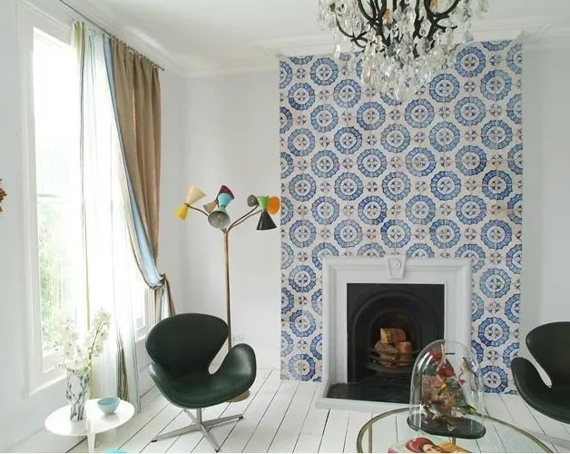 Tiled Moroccan Fireplace. Image Source: apartmenttherapy.com