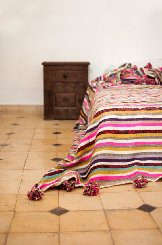 Colorful Moroccan bedding