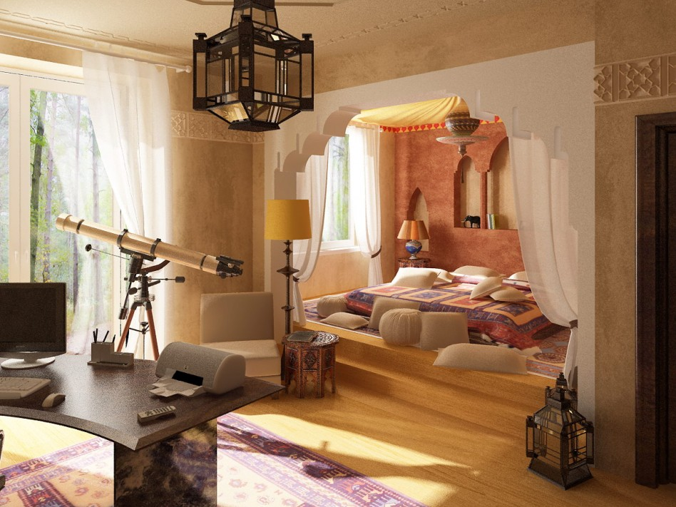 Exuberant Moroccan Decor Bedroom