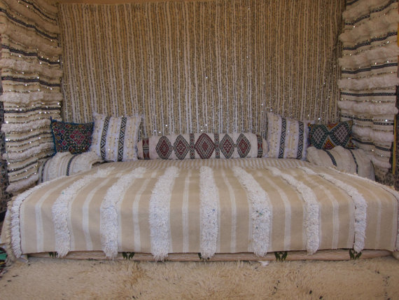 moroccan handira wedding blanket used as curtains. Shop this item HERE