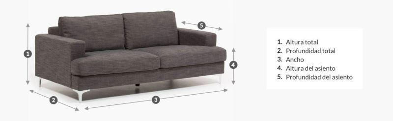 tamaño sofá