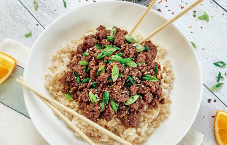 Tazon de carne saludable