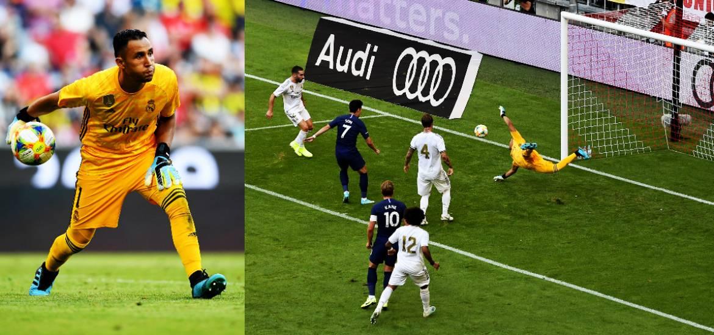 Las 8 Atajadas Del Tico Keylor Navas Evito Que El Tottenham Goleara Al Real Madrid En La Audi Cup Somos Invictos