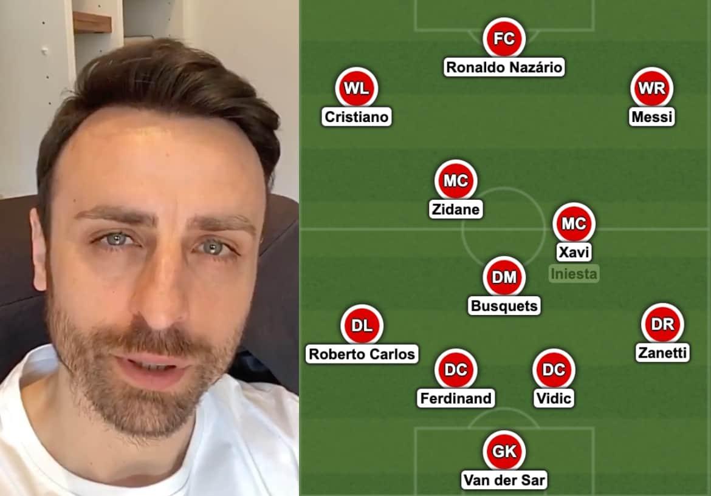 Berbatov - Messi - Cristiano - XI ideal.