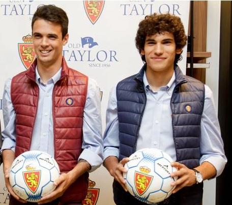 Erik Morán y Jesús Vallejo, jugadores del Real Zaragoza