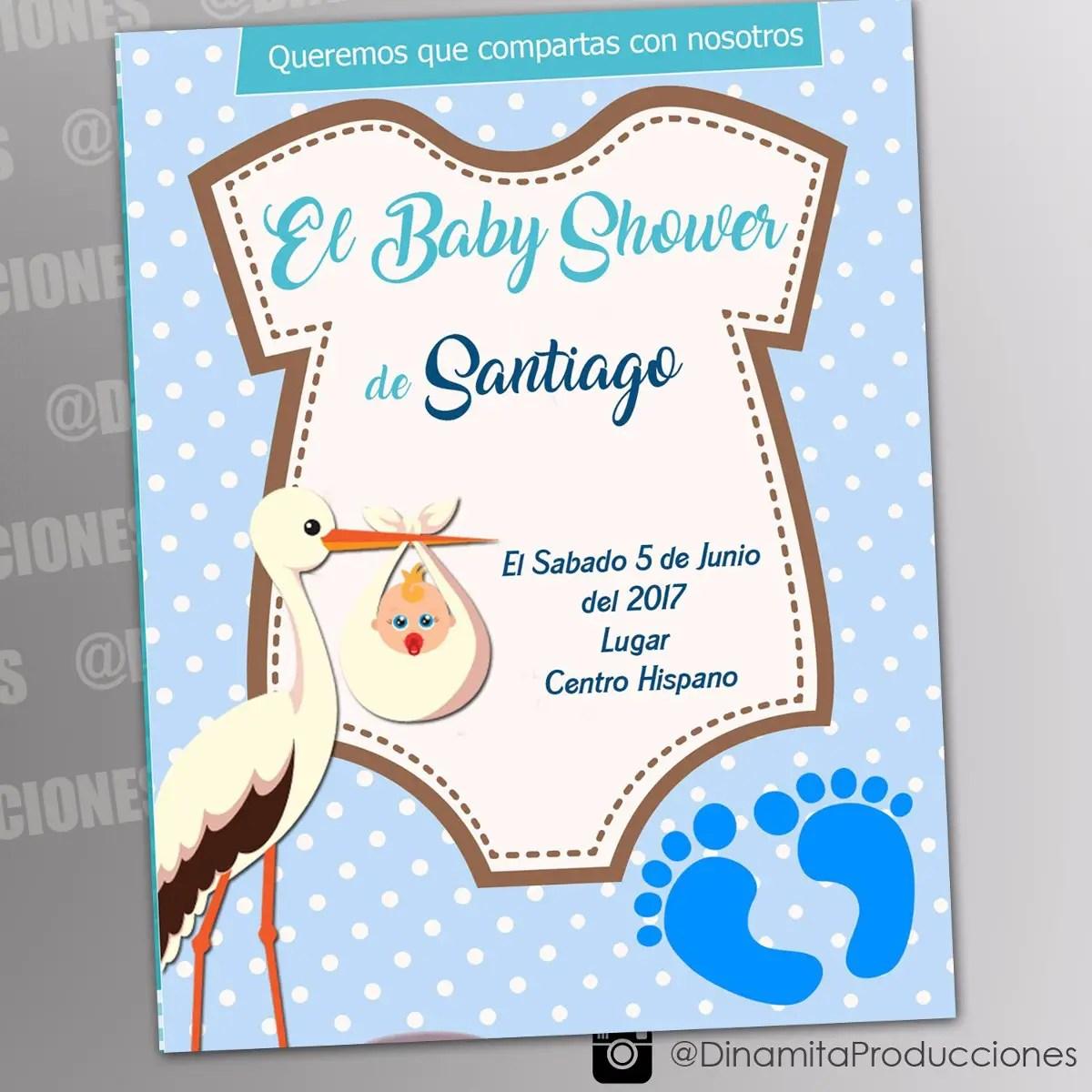 Tarjeta De Baby Shower Varon Novocom Top