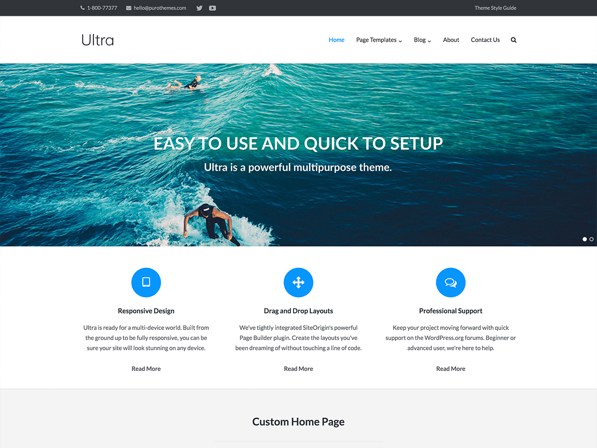 Ultra, theme para SEO en WordPress