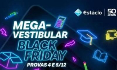 MegaVestibular Black Friday Estácio polo Amarante - PI, dias 04 e 05 de Dezembro