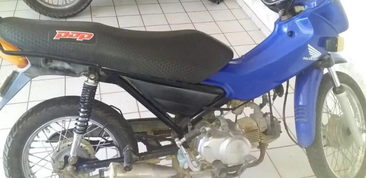Em Amarante, moto com cano kadron é apreendida em ação da PM e PC