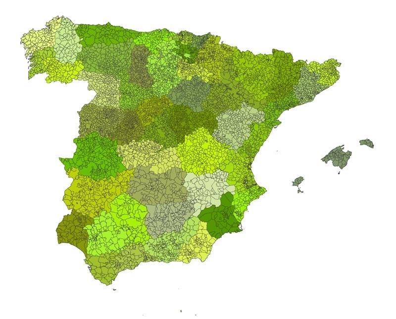 Subdivisiones de España (municipios)